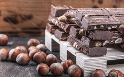 La pr?sentation Presentig de maquette une production et emballage d'un chocolat photo stock