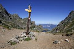 La Pra pass in Belledonne mountain range Royalty Free Stock Photo