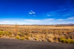 La prateria sudafricana di karoo Immagini Stock