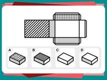 La pratica interroga il foglio di lavoro per istruzione e la prova di quoziente d'intelligenza Fotografia Stock