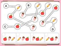 La pratica interroga il foglio di lavoro per istruzione e la prova di quoziente d'intelligenza royalty illustrazione gratis