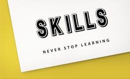 La pratique en matière de qualifications apprenant l'étude apprennent le concept photographie stock