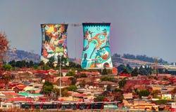 La precedente centrale elettrica, torre di raffreddamento, ora è posto per il salto BASSO fotografia stock libera da diritti