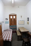 La precedente stanza di Madre Teresa alla Camera della madre in Calcutta Immagine Stock