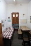 La precedente stanza di Madre Teresa alla Camera della madre in Calcutta Fotografie Stock