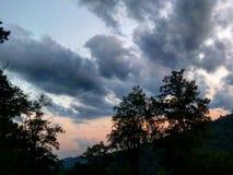 La precipitación de nubes Fotografía de archivo