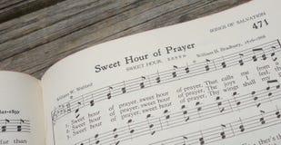 La preghiera cristiana dell'inno dell'innario prega la Cristianità Fotografie Stock