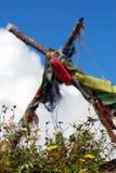 La preghiera tibetana di Buddhism inbandiera la fiamma Immagini Stock Libere da Diritti