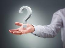La pregunta grande Imagen de archivo libre de regalías