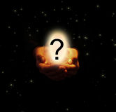 La pregunta grande Fotografía de archivo libre de regalías