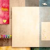 La carte d'invitation de sainte communion avec l'espace vide pour la photo ou écrivent Photographie stock