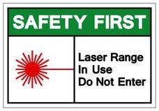 La première chaîne de laser de sécurité en service n'écrivent pas le signe de symbole, l'illustration de vecteur, isolat sur le l illustration libre de droits