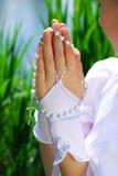 La première communion sainte Images stock