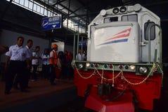 La première du voyage de train rapide d'Ambarawa Image libre de droits