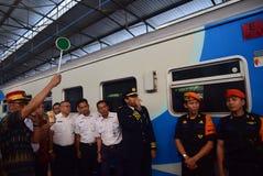 La première du voyage de train rapide d'Ambarawa photographie stock libre de droits