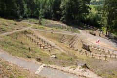 La première guerre mondiale de vieille forme militaire de cimetière dans la bataille de Luzna Pustki- de Gorlice Photographie stock libre de droits