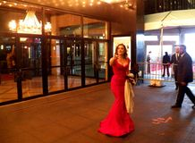La première huit détestable au théâtre de Ziegfeld dans NY Photos stock