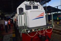 La premier del viaje de tren expreso de Ambarawa foto de archivo