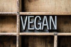 La prensa de copiar del vegano mecanografía adentro el cajón fotografía de archivo libre de regalías