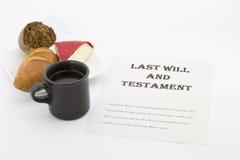 La preparación activa del último y testamento Fotografía de archivo libre de regalías