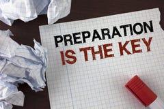 La preparación de texto de la escritura de la palabra es la llave El concepto del negocio para el estudio Learn se prepara para a Imagen de archivo libre de regalías