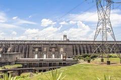 La presa de Itaipu, Foz hace Iguacu, el Brasil Fotografía de archivo libre de regalías