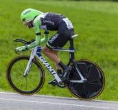 La presa de Laurens diez del ciclista Imagen de archivo