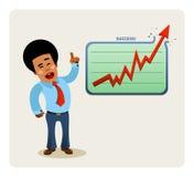 La presentación del hombre de negocios libre illustration