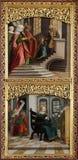 La presentación en el templo, anuncio, altar en iglesia del iceberg de Maria en Hallstatt Fotos de archivo libres de regalías