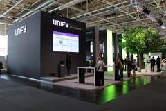 La presentación Unify el 20 de marzo de 2015 Foto de archivo libre de regalías