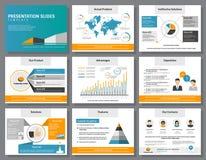 La presentazione di infographics di affari fa scorrere il modello Fotografia Stock Libera da Diritti