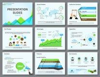 La presentazione di infographics di affari fa scorrere il modello Fotografie Stock Libere da Diritti