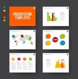 La presentazione fa scorrere con gli elementi infographic Fotografia Stock Libera da Diritti