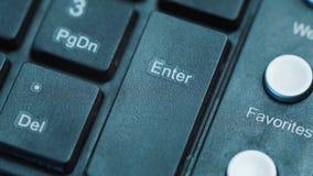 La pressatura del dito entra nel bottone 1, macro a video d archivio