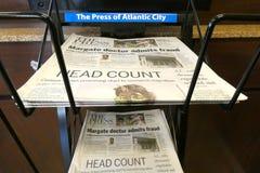 La presse d'Atlantic City image libre de droits