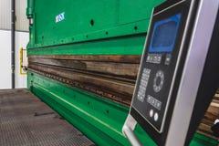 La presse hydraulique freine le panneau de commande photo stock