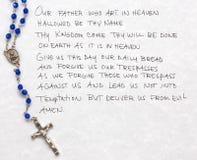 La prière du seigneur Photo libre de droits