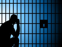 La prigione Copyspace rappresenta prende nella custodia e nell'arresto Fotografia Stock