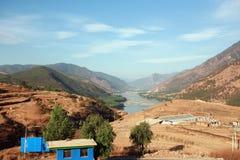 La prima baia del fiume di Changjiang Fotografie Stock