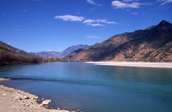 La prima girata del fiume di Yangtze, Cina Immagine Stock