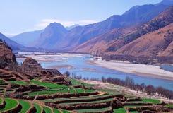 La prima girata del fiume di Yangtze, Cina Fotografia Stock