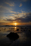 La prima luce dietro il mare, a Hua Hin, bellezza della natura Immagine Stock Libera da Diritti