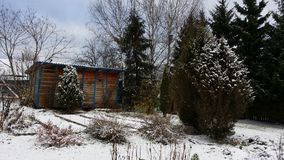 La prima neve è caduto Immagine Stock