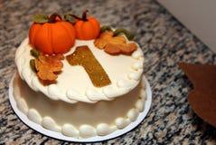 La prima torta di compleanno Fotografia Stock Libera da Diritti