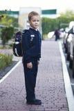 La prima volta va a scuola Fotografia Stock Libera da Diritti