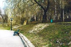 La primavera è venuto nel vecchio parco fotografia stock libera da diritti