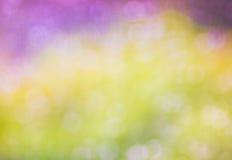 La primavera caliente de las luces colorea el bokeh Imagenes de archivo