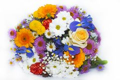 La primavera colorata fiorisce il mazzo immagine stock