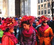 La primavera dei cappelli di parata di Pasqua colora New York Fotografia Stock Libera da Diritti