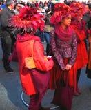 La primavera dei cappelli di parata di Pasqua colora New York Immagine Stock